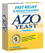 AZO Natural Yeast Symptom Prevention & Relief Tablets, 400 mg, 60-Count Boxes