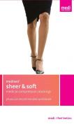 mediven for Sheer & Soft, 20-30 mmHg, Calf High, Closed Toe - Ebony, I, Standard