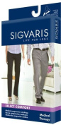Sigvaris Select Comfort Thigh High With Grip Top 30-40mmHg Unisex Open Toe, Crispa