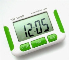 Compact five alarm and countdown pill reminder