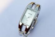 Elegent fashion square lady's women's bracelet bangle wrist quartz watch