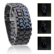 Cobra Edition Unisex Sports Blue LED Faceless Wrist Watch