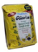 Ricola Original Natural Herb Cough Drops 2 Bags 130 Drops Each.