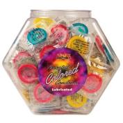 Asst. Coloured Condoms 144 Bowl