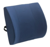 Duro-Med Contour Lumbar Back Support Cushion Pillow with Strap, Navy