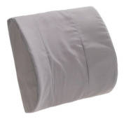 Duro-Med Contour Lumbar Back Support Cushion Pillow with Strap, Grey