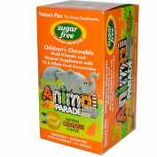 Source of Life, Animal Parade, Children's Chewable, Sugar Free, Natural Orange Flavour, 90 Animals