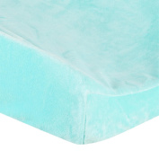 . Plush Changing Pad Cover - Aqua