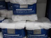 Five Star Hotel 12pk White Washcloths