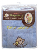 Neat Solutions Stay Dry Bath Apron & Wash Mitt - Blue