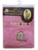 Neat Solutions Stay Dry Bath Apron & Wash Mitt - Pink