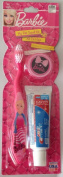 "Barbie ""My Fab Travel Kit"" Toothbrush with Cap and Toothpaste"