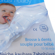 Brush-Baby Soft Chewable Toothbrush (10Months - 3Years) - Massages, Soothes & Cleans