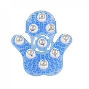 Blue Plastic Pad Rolling Ball Massage Tool Body Massager Glove
