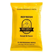 Bee Bald Refresh Head and Face Wipes 30 wipes