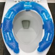 Pressure Relief Comfort Gel Toilet Seat Cushion - Easy Clean Bathroom Aid