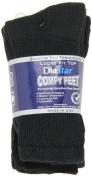 Diastar Comfy Feet Diabetic Socks, Black, 10-13, 1 Pair