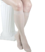 ITA-MED Graduated Firm Compression Knee Highs with Band, Sheer