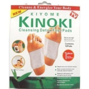 TEN Boxes of 10 Cleansing Detox Foot Pads Patches (100) KINOKI *As Seen On TV