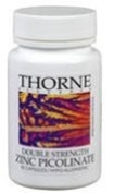 THORNE RESEARCH - Zinc Picolinate [DS] (30mg) 60c [Health and Beauty]