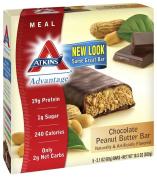 Atkins, Advantage, Chocolate Peanut Butter Bar, 5 Bars, 60ml (60 g) Each