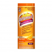 Metamucil Daily Fibre Supplement, 100% Natural Psyllium Husk, Orange Smooth Sugar Free Fibre Powder, 114 Doses