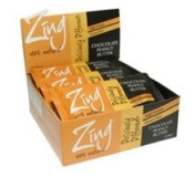 Zing Nutrition Bar-Dark Chocolate Peanut Butter-Box Zing Bars 12 Bars Box
