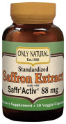 Only Natural - Standardised Saffron Extract Made With Saffr'Activ, 88 mg, 30 veggie caps