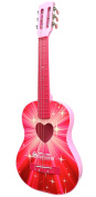 Schoenhut Piano Company 605SB Pink Starburst Acoustic Guitar