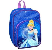 DISNEY PRINCESS CINDERELLA 3D BLUE CHILDRENS SCHOOL BACKPACK RUCKSACK BAG 255971