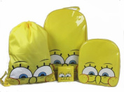 4PCS SPONGEBOB KIDS BOYS WHEELED BAG TROLLEY SUIT CASE LUGGAGE SET BACKPACK NEW