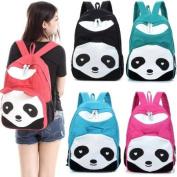 Cute Panda Cartoon Student School Backpack Knapsack Rucksack Canvas HandBag