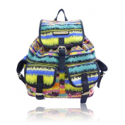 New!!! Anna Smith (By LYDC) Designer Retro Aztec Stripe Backpack/Rucksack/School Bag