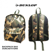 Dunlop Camouflage Army Green Backpack Rucksack SPORTS GYM SCHOOL Bag