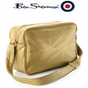 NEW BEN SHERMAN GOLD UNION JACK GYM UNI SCHOOL MESSENGER BAG 675455