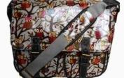 LYDC Owl Satchel OilCloth Shoulder Bag College Designer Celeb Glossy Owls School