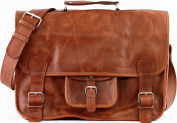 School Satchel (XL) Vintage Leather Satchel Shoulder Bag (A4) Unisex PAUL MARIUS Vintage & retro