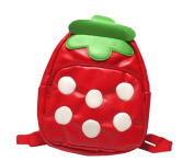 Gaorui Children Toddler Kid'S Leather School Bag Animal Fruit Cartoon Backpack 14 Styles - Strawberry Pattern
