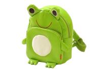 Gaorui Children Toddler Kid'S Leather School Bag Animal Fruit Cartoon Backpack 14 Styles - Frog Pattern