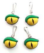 4 pcs Crocodile Eyes Zipper Pull / Zip pull Charms for Jacket Backpack Bag Pendant