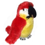 15cm Red Parrot Soft Toy