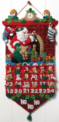 Must Be Santa Advent Calendar Felt Applique Kit-33cm x 60cm