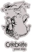 Penny Black 121607 Penny Black Cling Rubber Stamp 10cm . x 13cm . -A Scholar