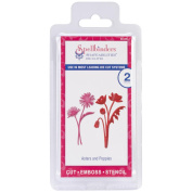 Spellbinders Shapeabilities Die D-Lites-Asters & Poppies