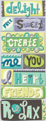 K and Company PS Words Adhesive Chipboard