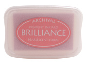 Brilliance Pigment Ink Pad-Pearlescent Coral