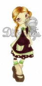 Little Darlings Saturated Canary Unmounted Rubber Stamp - Vampire Rose