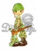 Little Darlings Saturated Canary Unmounted Rubber Stamp - Backyard General