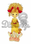 Saturated Canary Unmounted Rubber Stamp 10cm x 5.1cm -Daddy's Girl