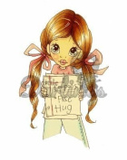 Saturated Canary Unmounted Rubber Stamp 9.5cm x 6.4cm -Free Hugs